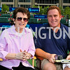 Photo by Tony Powell. Billie Jean King, Dave Feldman. Kastles VIP Reception. Kastles Stadium. July 7, 2010